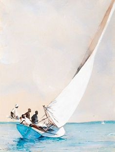 "Stephen Scott Young - Morris & Whiteside Galleries ""Catching the Breeze"" #art #sailing #boat"
