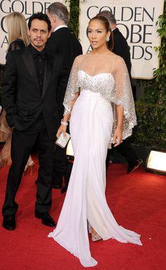 Jennifer Lopez Lookbook: Jennifer Lopez wearing Dangling Diamond Earrings (1 of 24). Jennifer Lopez always looks amazing on the red carpet. The 'American Idol' judge wore unique diamond earrings at the Golden Globe Awards.
