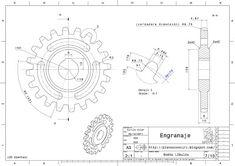 Mechanical Engineering Design, Mechanical Design, Autocad, Gear Drawing, Cad 3d, Autodesk Inventor, Drawing Machine, 3d Drawings, Technical Drawing