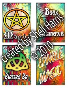 Wicca Themed Stickers .pdf download Wicca, Spirit, Pdf, Stickers, Books, Libros, Book, Book Illustrations, Wiccan