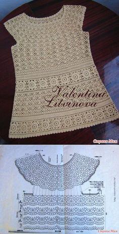 La túnica para la mamá y platitse para dochenki - la Labor de punto - el País de las Mamás