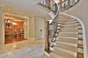 Staircase w. neutral carpet runner