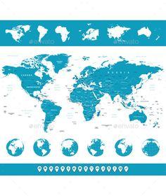 World Map Vector EPS. Download here: https://graphicriver.net/item/world-map/12701019?ref=ksioks