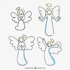 Bildergebnis für engel clipart schwarz weiß