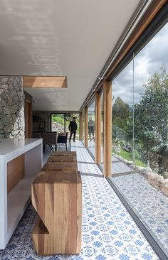 Image 3 of 19 from gallery of Stone House / Inai Arquitectura. Photograph by JAG Studio Architecture Details, Interior Architecture, Cabin Design, House Design, Bungalow Extensions, Home Building Design, Castle House, Stone Houses, Home Additions
