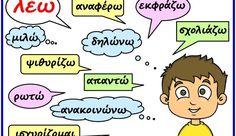 """Συνώνυμα της λέξης """"λέω"""""""