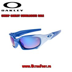 ad54fe78410c80 Oakley pas cher cadre bleu Pit Boss lentille iridium glace ultrafoot