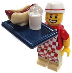 LEGO Minifigure Comes as Pictured. Legos, Lego Submarine, 50s Diner, Lego People, Lego Minifigs, Lego Models, Sub Brands, Lego Creations, Hot Dogs