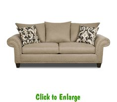 Hideaway Putty Sofa By Corinthian At Furniture Warehouse | The $399 Sofa  Store | Nashville,