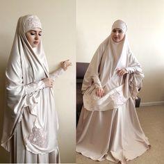 Elegant beige Muslim suit, Silk beige jilbab, wedding khimar, engagement beige islamic dress, nikah Bridal Hijab, Disney Wedding Dresses, Hijab Bride, Pakistani Wedding Dresses, Modest Wedding, Chic Wedding, Nigerian Weddings, African Weddings, Hijab Style Dress