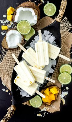Coconut Mango Lime Popsicles | I'm bored, Let's Go...