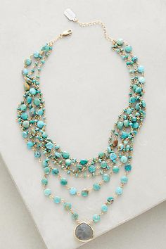 Multilayer Turquoise Choker - anthropologie.com