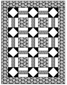 Cat in the Corner Baby Quilt Free Pattern