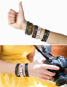 Canon or Nikon? Pick a side, wear their team colors with Lens Bracelets.    Hint: ❤️day is Feb. 14