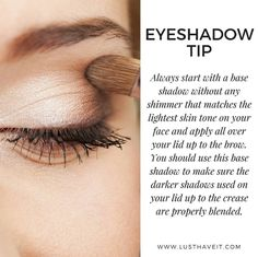 Add a neutral or white base to your lids to intensify your eyeshadow and also to…