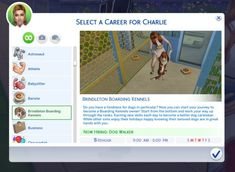 Brindleton Boarding Kennels Career by SimmerCharlie (Sims This is a rabbit hole career, meaning your sim will go to work on their own. Sadly you can not join them. You will need the sims 4 Cats and. The Sims 4 Pc, Sims 4 Teen, Sims 4 Toddler, Sims 4 Mm Cc, Sims 4 Jobs, Sims Pets, Sims 4 Traits, Sims 4 Game Mods, Casas The Sims 4