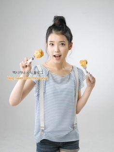 IU for Mexicana Chicken Talent Agency, Cute Korean, Her Music, Korean Outfits, Debut Album, Little Sisters, Korean Singer, Girl Fashion, Actresses
