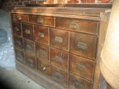 My craigslist score today: a massively heavy, gorgeous mid-1800's apothecary cabinet with 18 drawers. Love!!