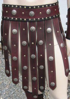 Leather Armor Gladiator Set larp cosplay by SharpMountainLeather