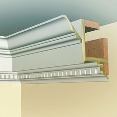 Here's the cross-section of the Georgian cornice. Who's ready to give it a try now?! All profiles are from our in-stock poplar Classical Moulding collection.