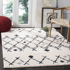 Shop for Safavieh Berber Shag Tribal Cream/ Navy Shag Rug (5' 1 x 7' 6). Get free shipping at Overstock.com - Your Online Home Decor Outlet Store! Get 5% in rewards with Club O!