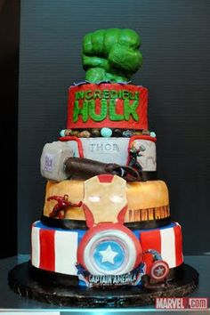 inspiration for Marvel cake for Cole