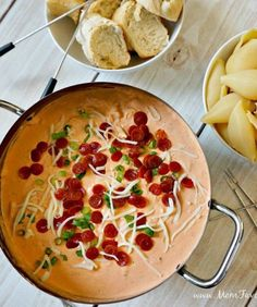 recipe: meatless pizza fondue [33]