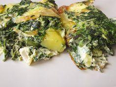Cartofi noi cu spanac şi brânză -