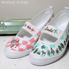 stamp on shoes!! 上履きデコ