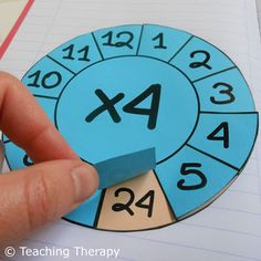 Teaching Therapy: Οι ρόδες της προπαίδειας Montessori Math, Math Projects, Teaching Math, Special Education, Games For Kids, Kids Learning, Diy And Crafts, Homeschool, Therapy