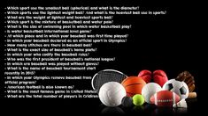 If you are interested in outdoor games and want to know about more, then these sports trivia questions and answers are for you Sports Trivia Questions, Trivia Questions And Answers, This Or That Questions, Tie Break, Old Names, Get Gift Cards, Tennis World, Tennis Match, Water Polo