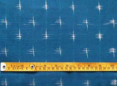 Double Ikat. Hand Loomed & Dyed Cotton. Blue. 2½ Yards $24.99