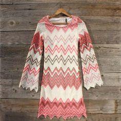 Wild Horses Chevron Dress, Sweet Women's Country Clothing