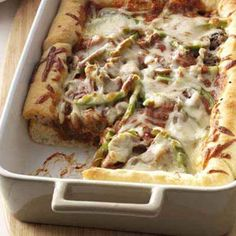 Deep-Dish Pizza Recipe from Taste of Home -- shared by Patricia Howson of Carstairs, Alberta