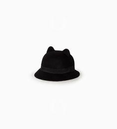 Felt hat with ears from Zara