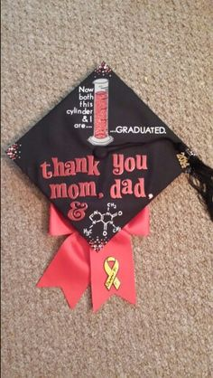 Graduation Cap #sciencemajorproblems