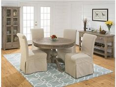 Shop For Jofran Reclaimed Pine Round To Oval Dining Top 941 66T And Table SetsDining