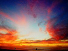 Melkbos sunset Line Texture, Texture Design, Color Lines, Beautiful Sunset, Picture Show, Beautiful Pictures, Design Inspiration, Clouds, Fine Art