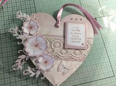 Heart using Dreamees stamps and papers