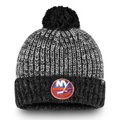 info for 7bf15 b65b9 Men s New York Islanders Fanatics Branded Black Iconic Cuffed Knit Hat with  Pom, Your Price   24.99