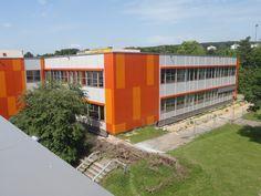 brüchner-hüttemann pasch bhp Architekten + Generalplaner GmbH Schulzentrum Lohfeld, Bad Salzuflen//Foto deteringdesign// #bhparchitekten #architecture #badsalzuflen #schulen