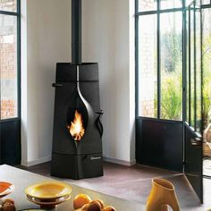 This is a corner wood burning stove with special design.