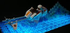 Not only is this an awesome LEGO speeder bike, but the wake effect is awesome and so is the lighting!