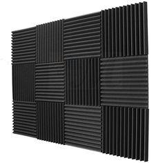 "12 Pack Acoustic Panels Studio Foam Wedges 1"" X 12"" X 12""..."