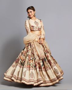 Looking For A New Mid Budget Bridal Label? Try Torani - - Looking For A New Mid Budget Bridal Label? Try Torani – Source by rupruhani - Indian Gowns Dresses, Indian Fashion Dresses, Indian Designer Outfits, Bridal Dresses, Indian Lehenga, Lehenga Choli, Orange Lehenga, Floral Lehenga, Sabyasachi