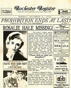 Rosalie Hale missing