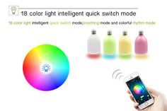 Many colors to change as you like by smartphone
