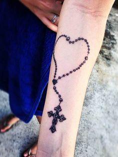 Tattoo heart with Jesus cross #Tattoo, #Tattooed, #Tattoos