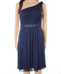 97dd563fab719 Adrianna Papell NEW Blue Womens Size 12 Lace Embellished Sheath Dress  159-  351