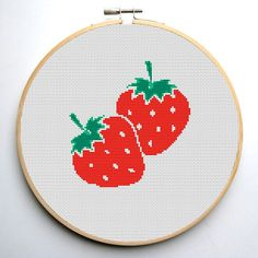 Cross stitch pattern PDF Strawberry Instant Download